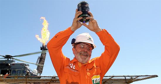 Lula apresenta o primeiro óleo da camada pré-sal