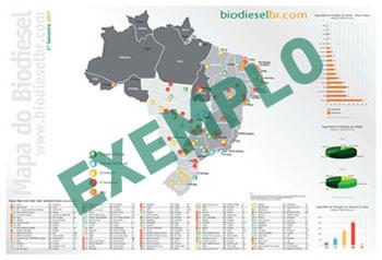 Mapa Impresso das Usinas de Biodiesel