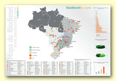 Mapa Impresso do Biodiesel mini
